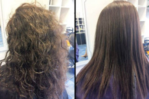 Hair Straightening treatment richmondhill before after