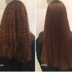 before after Korean Magic Straight Perm