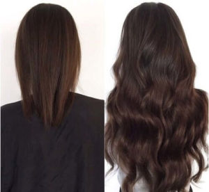 extensions before after salon Richmond