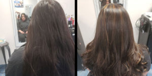 before after brown highlight Richmond hill