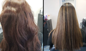 Before After low light hair salon Richmond Hill